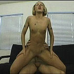Hammered into orgasm by a big hard cock