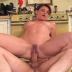 Banging her mature pussy hard doggystyle