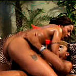 Young ebony slut getting hard cock