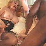Two blonde grannies in sizzling orgy