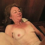 Brunette granny gets fucked by meaty cock