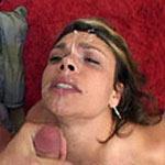 Fiery Italian cutie Isabella gets a massive facial