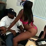 Guy gets it on with 2 chicks in his office