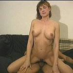 Stretching her pussy on some hard throbbing cock