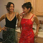 From the bedroom to the kitchen Asian lezzies licking and sucking