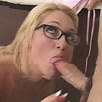 Blonde gets horny after a rough breast exam