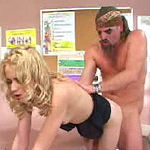 Blonde vixens cunt gets a pounding from stud's hard hammer