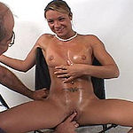 Shelby giving older man a bj for her first audition
