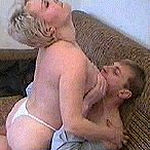 Lustful drunk blonde getting her ass dildoed