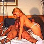 This nurse takes special care of her men