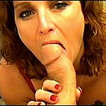 Mature woman takes in a big hard dick deepthroat style