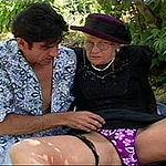 Horny grandma sucks and fucks a hard cock for a face full of cum