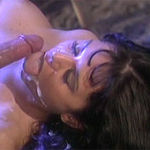 Hot looking brunette gets dicked from behind and facialed