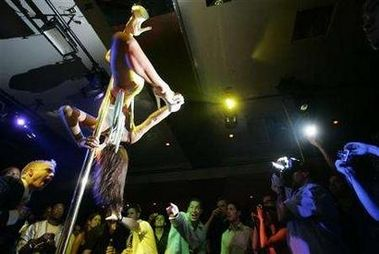 stripper on the pole