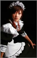 iMaid server in French maid costume