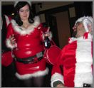 Mrs Claus in latex