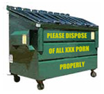 please dispose of xxx porn properly
